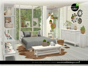 Sims 4 — Naturalis Bedroom by SIMcredible! — Starting with this bedroom our new series, the Naturalis. In 3 main colors