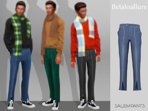 Sims 4 — Belaloallure_Salem pants by belal19972 — Simple denim pants for your sims ,enjoy :)