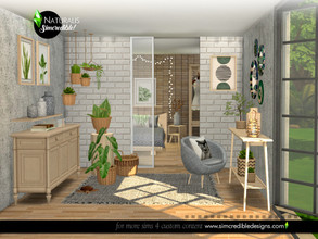 Sims 4 — Naturalis Extras by SIMcredible! — The second part of our Naturalis bedroom set has decorative items we used to