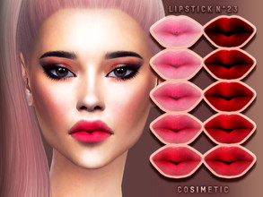 Sims 4 — Lipstick N23 by cosimetic — - This lipstick can use on all genders and from teen to elder. - Contains [ 10 ]