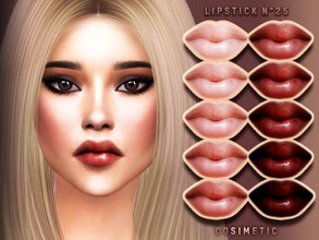 Sims 4 — Lipstick N25 by cosimetic — - This lipstick can use on all genders and from teen to elder. - Contains [ 10 ]