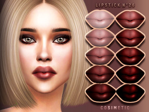 Sims 4 — Lipstick N26 by cosimetic — - This lipstick can use on all genders and from teen to elder. - Contains [ 10 ]