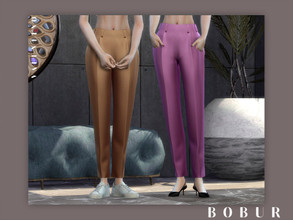 Sims 4 — Bobur Valentino pants by Bobur2 — new mesh by me 12 swatches all LODs with thumbnails HQ texture