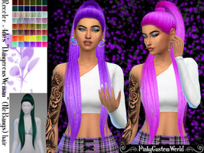 Sims 4 — Recolor Ade's Dangerous Woman (no bangs) hair by PinkyCustomWorld — - Recolor in 48 different colors - Custom