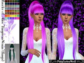 Sims 4 — Recolor Ade's Dangerous Woman (bangs) hair by PinkyCustomWorld — - Recolor in 48 different colors - Custom