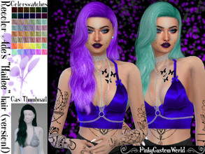 Sims 4 — Recolor Ade's Hailee (Style 1) hair by PinkyCustomWorld — - Recolor in 48 different colors - Custom Thumbnail -