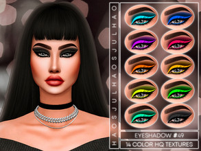 Sims 4 — JUL_HAOS [COSMETICS] EYESHADOW #49 by Jul_Haos — - CATEGORY: EYESHADOW - SAMPLE: 14 - GENDER - FEMALE - HQ