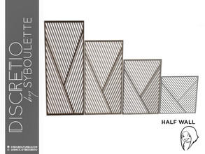 Sims 4 — Discretio Diagonal Divider Room (half walf) by Syboubou — This a divider room with simple lines and diagonals