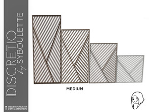 Sims 4 — Discretio Diagonal Divider Room (medium) by Syboubou — This a divider room with simple lines and diagonals