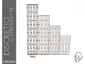 Sims 4 — Discretio Orthogonal Divider Room (tall) by Syboubou — This a divider room with simple lines and