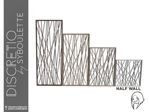 Sims 4 — Discretio Geometric Divider Room (half walf) by Syboubou — This a divider room with simple lines and