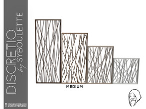 Sims 4 — Discretio Geometric Divider Room (medium) by Syboubou — This a divider room with simple lines and