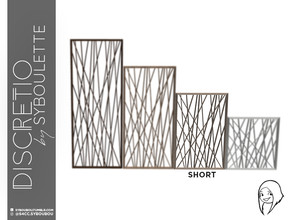 Sims 4 — Discretio Geometric Divider Room (short) by Syboubou — This a divider room with simple lines and