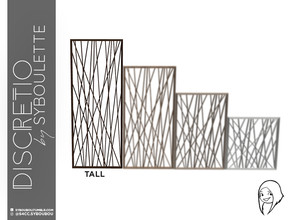 Sims 4 — Discretio Geometric Divider Room (tall) by Syboubou — This a divider room with simple lines and