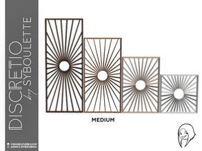 Sims 4 — Discretio Sun Divider Room (medium) by Syboubou — This a divider room with simple lines and a sun pattern in his