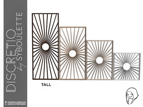 Sims 4 — Discretio Sun Divider Room (tall) by Syboubou — This a divider room with simple lines and a sun pattern in his