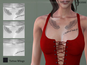 Sims 4 — Tattoo-Wings by ANGISSI — *For all questions go here-----angissi.tumblr.com *3 options (black) *Category-breast
