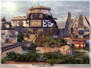 Sims 4 — Quarters Batuu by Danuta720 — This quarter built for Lord Vader. It contains many secrets of Batuu. Includes: -
