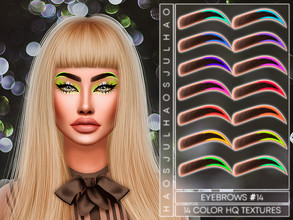 Sims 4 — JUL_HAOS [COSMETICS] EYEBROWS #14 by Jul_Haos — - CATEGORY: EYEBROWS - SAMPLE: 14 - GENDER - FEMALE - HQ