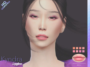 Sims 4 — [KCHU] af Lipgloss Kyndra HQ by Kiminachu — - Available in 8 different colors - HQ compatible - Custom thumbnail