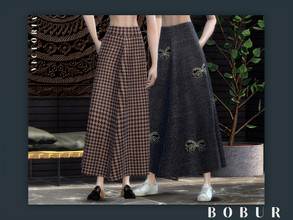 Sims 4 — Bobur Victoria skirt by Bobur2 — new mesh by me 8 swatches all LODs with thumbnails HQ texture