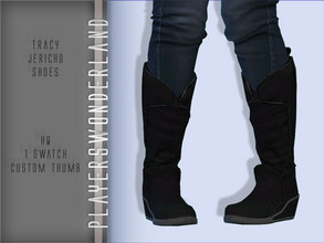 Sims 4 — Detroit Become Human : Tracy Jericho Shoes by PlayersWonderland — HQ 1 Swatch Custom thumbnail