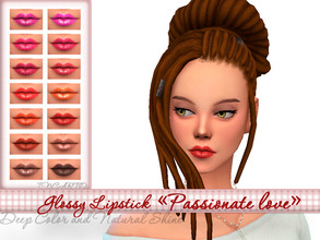 Sims 4 — Glossy lipstick Passionate love by Incarto — Base game, available to everyone 14 Swatches Hope you like it
