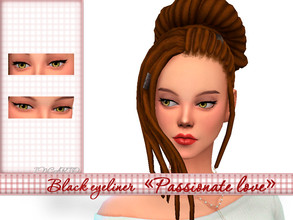 Sims 4 — Black eyeliner Passionate love by Incarto — Base game, available to everyone Hope you like it
