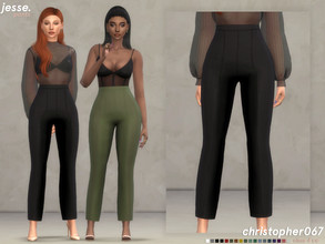 Sims 4 — Jesse Pants / Christopher067 by christopher0672 — This is a sleek pair of cigarette pants. This is part of a set
