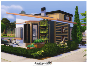 Sims 4 — Ametyst by Danuta720 — A small house for a family with one child. No CC by Danuta720