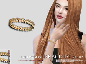 Sims 4 — S-Club WM ts4 bracelet 202012 by S-Club — Bracelet, 3 swatches, hope you like, thank you.