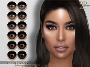 Sims 4 — FRS Eyes N105 by FashionRoyaltySims — Standalone Custom thumbnail All ages and genders 12 color options HQ