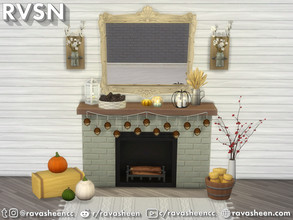 Sims 4 — Squash Goals Fall Decor by RAVASHEEN — Create that chic fall vibe with the Squash Goal Fall Decor set. The