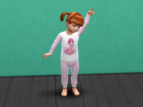 Sims 4 — Lazytown pyjama for toddlers by Arisha_214 — Lazytown pyjama for toddler girls :)