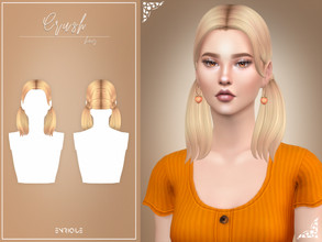 Sims 4 — EnriqueS4 - Crush Hairstyle by Enriques4 — New Mesh 18 EA Swatches All Lods Base Game Compatible Teen to Elder