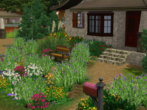 Sims 3 — Les Lavandes no cc by sgK452 — Here is a very simple little house on 30x30 land. Possibility of 2 bedrooms and 2