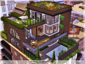 Sims 4 — Greenery in the City by Danuta720 — Luxurious penthouse in the middle of the city. It is located in the historic