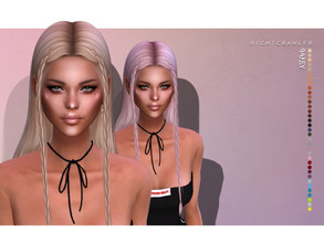 Sims 4 — Nightcrawler-Bailey (HAIR) by Nightcrawler_Sims — NEW HAIR MESH T/E Smooth bone assignment All lods 35colors