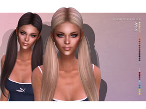 Sims 4 — Nightcrawler-Jennie (HAIR) by Nightcrawler_Sims — NEW HAIR MESH T/E Smooth bone assignment All lods 35colors