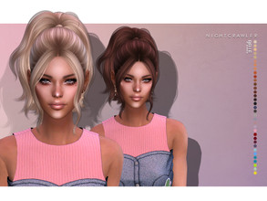 Sims 4 — Nightcrawler-Belle (HAIR) by Nightcrawler_Sims — NEW HAIR MESH T/E Smooth bone assignment All lods 35colors