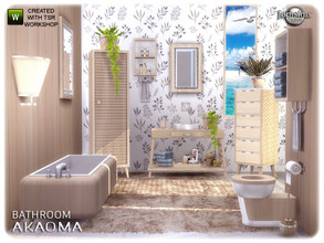 Sims 4 — Akaoma bathroom by jomsims — Akaoma bathroom A new bathroom for your Sims. set in 2 part Dont miss part 2