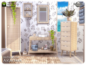 Sims 4 — Akaoma bathroom part2 by jomsims — Akaoma bathroom part2 here the part 2 for akaoma bathroom dont miss part 1 2