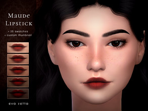Sims 4 — Maude Lipstick - Eva Zetta by Eva_Zetta — A soft toned lipstick that looks amazing on all skin types. - Comes in