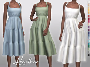 Sims 4 — Heather Dress by Sifix2 — - New mesh - 20 swatches - Base game compatible - HQ mod compatible - Teen - Young