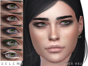 Sims 4 — Eyeliner N82 by Seleng — Female Teen to Elder 6 swatches Custom Thumbnail HQ compatible The picture was taken