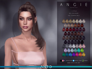 Sims 4 — Anto - Angie (Hairstyle) by Anto — Sims 4 hairstyle