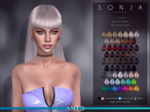 Sims 4 — Anto - Sonja (Hairstyle) by Anto — Long hair with fringe