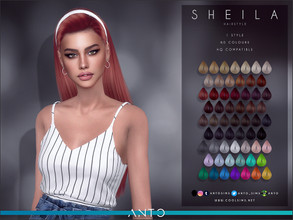Sims 4 — Anto - Sheila (Hairstyle) by Anto — Long hair with headband. Clothes by EllieSimple