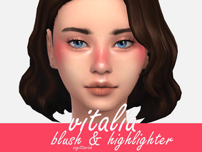 Sims 4 — Vitalia Blush & Highlight (Skin Details) by Sagittariah — base game compatible 1 swatch properly tagged