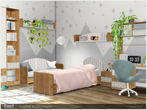 Sims 4 — Anika kidsroom by Severinka_ — A set of furniture for the design of the kids or teen room in the Scandi style.